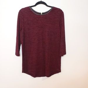 George Crew Neck Long Sleeve With Gold Zip Size XL